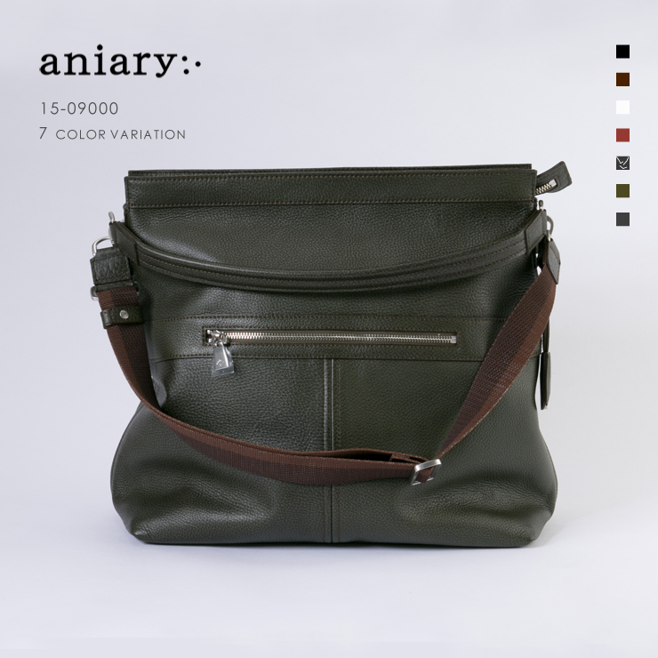 【aniary|アニアリ】Grind Leather グラインドレザー 牛革 2Way Shoulder 2Way ショルダー 15-09000 メンズ 斜め掛け [送料無料]