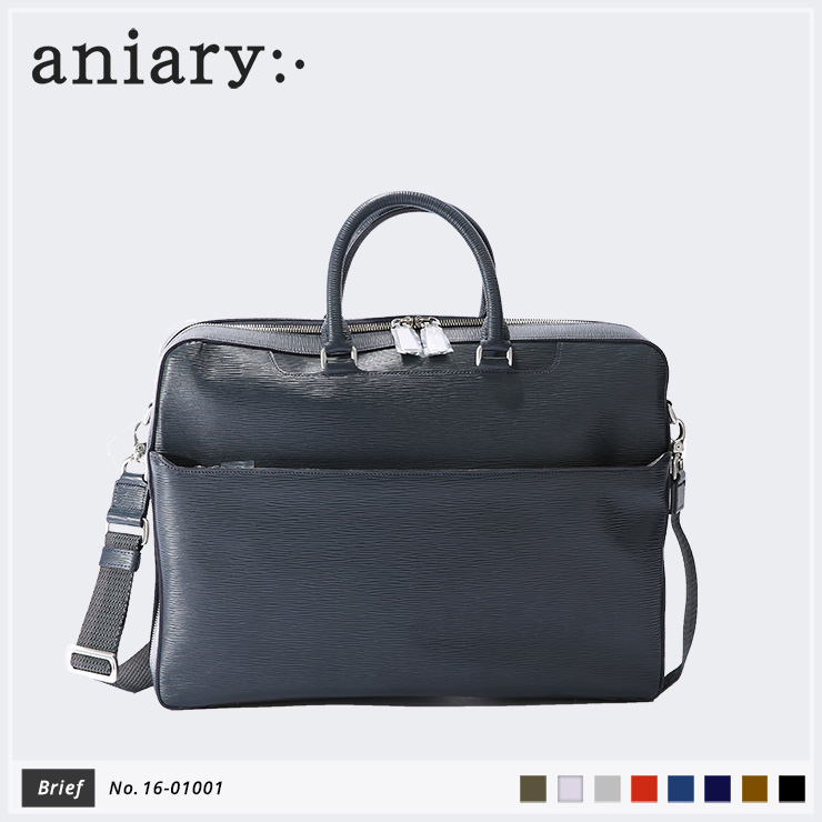 【aniary|アニアリ】Wave Leather ウェーブレザー 牛革 Brief ブリーフケース 16-01001 メンズ [送料無料]