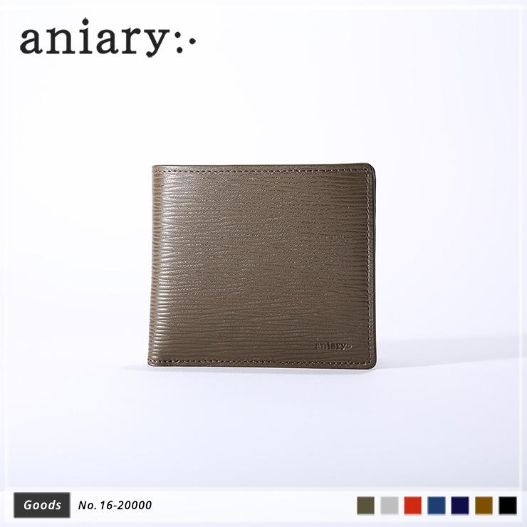 【aniary|アニアリ】Wave Leather ウェーブレザー 牛革 Goods ウォレット 二つ折り財布 16-20000 メンズ [送料無料]
