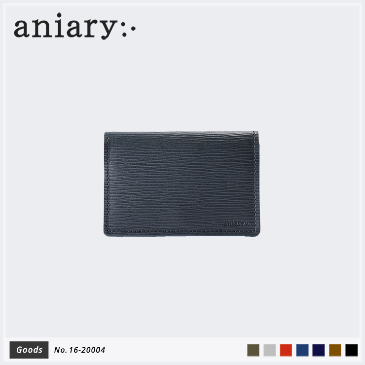 【aniary アニアリ】Wave Leather ウェーブレザー 牛革 Goods カードケース 名刺入れ 16-20004 メンズ
