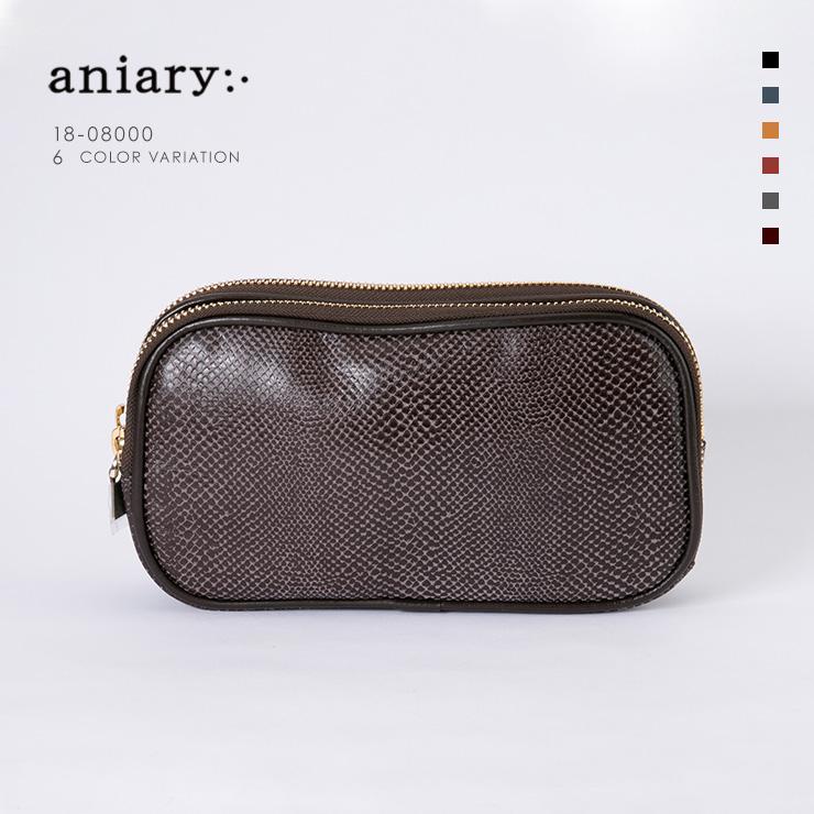 アニアリ・aniary クラッチバッグ【送料無料】Scale Leather 牛革 Crutch Bag 18-08000