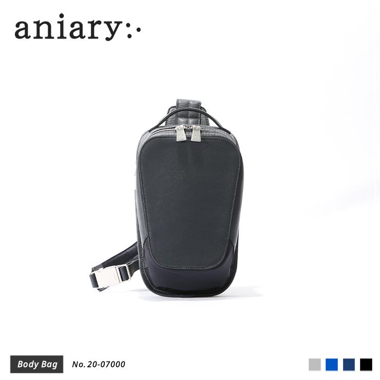 【新作】【aniary|アニアリ】Refine Leather リファインレザー 牛革 Body Bag ボディバッグ 20-07000 メンズ 斜め掛け [送料無料]