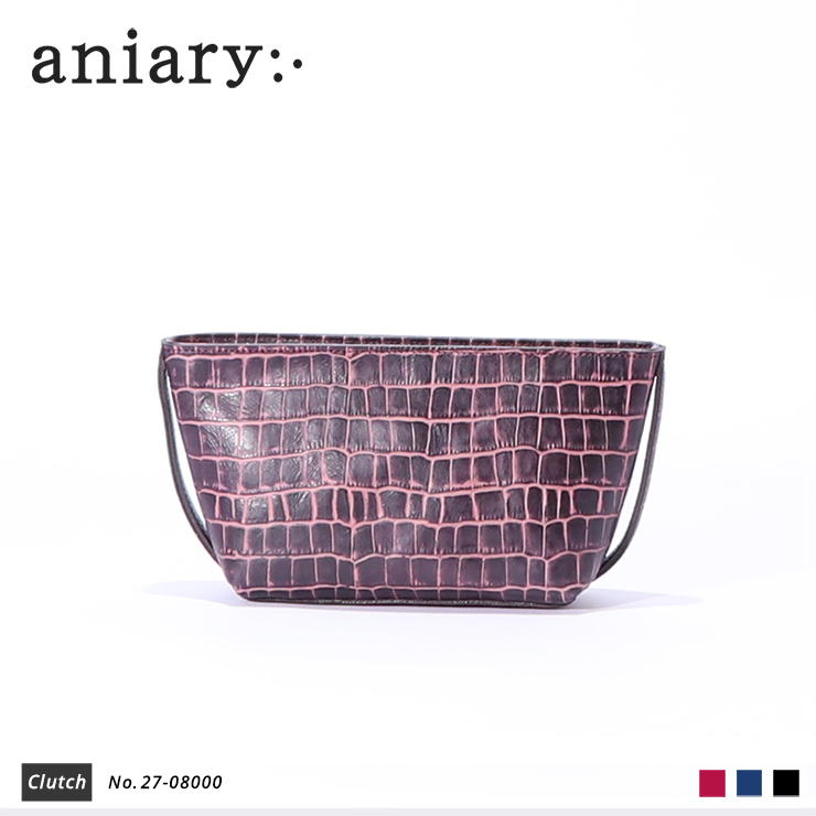 【aniary|アニアリ】Tint Embossing Leatherティントエンボシングレザー牛革 Clutch クラッチバッグ 27-08000 [送料無料]