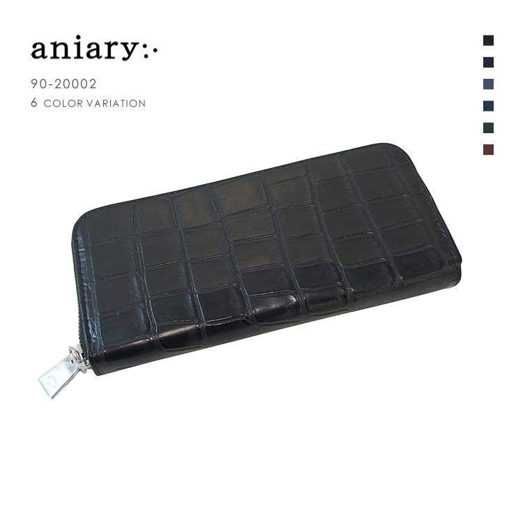 【aniary|アニアリ】Crocodile Leather クロコダイルレザー Goods ウォレット 長財布 90-20002 メンズ [送料無料]