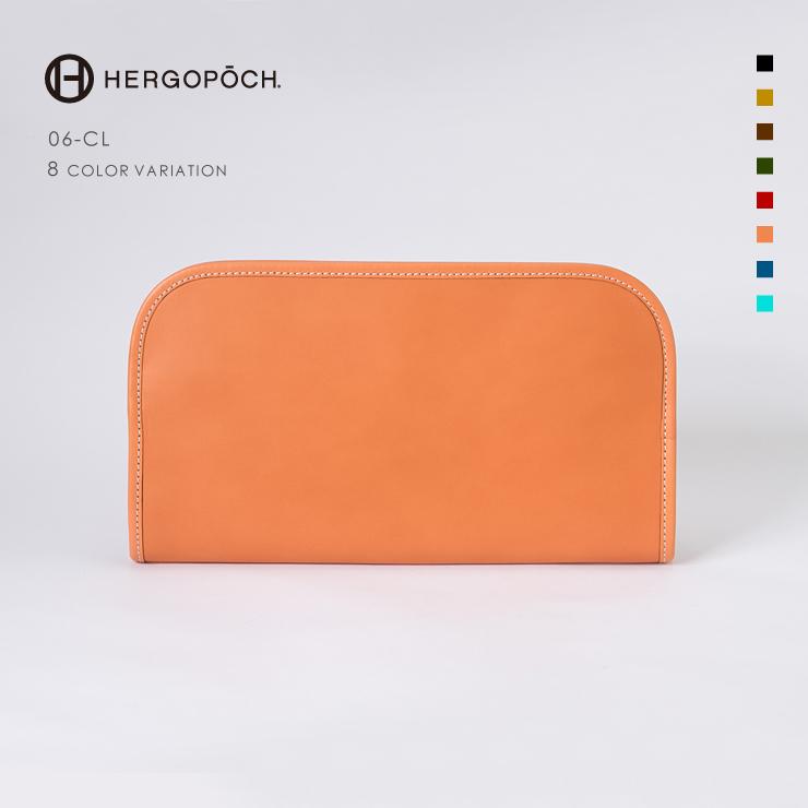 エルゴポック・HERGOPOCH クラッチバッグ【送料無料】ワキシングレザークラッチバッグ  06 Series 06シリーズ 06-CL