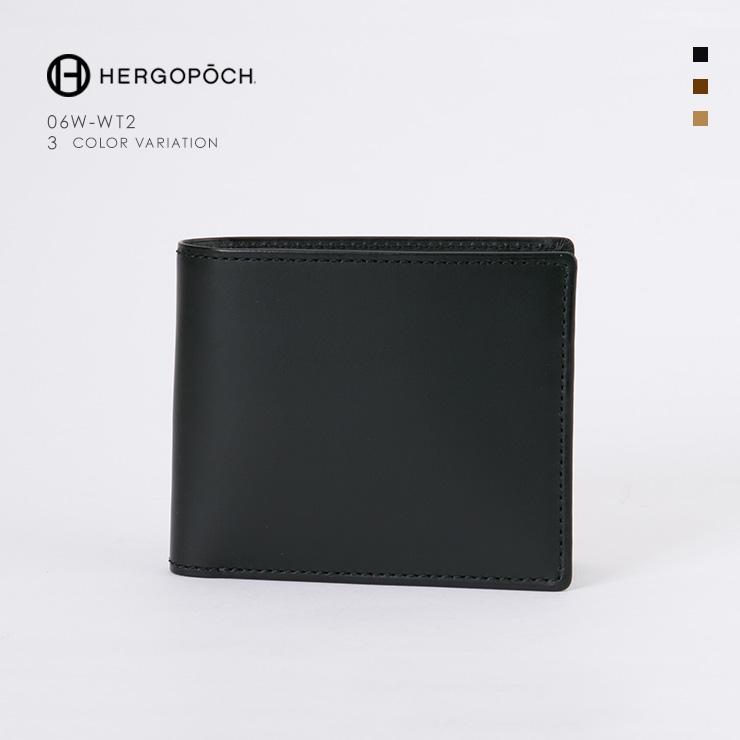 【HERGOPOCH|エルゴポック】Waxed Leather ワキシングレザー 牛革 Goods ウォレット 二つ折り財布 06W-WT2 [送料無料]