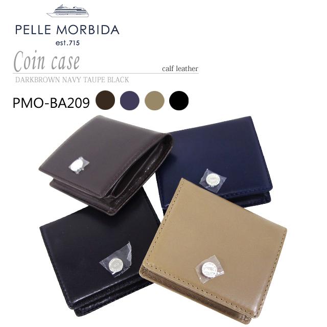 【PELLE MORBIDA|ペッレモルビダ】Barca カーフレザー 牛革 Goods コインケース 小銭入れ PMO-BA209 [送料無料]