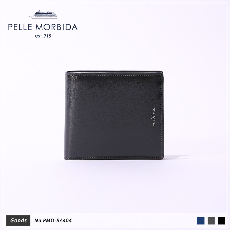 【PELLE MORBIDA|ペッレモルビダ】Barca ゴートレザー Goods ウォレット 二つ折り財布 PMO-BA404 [送料無料]