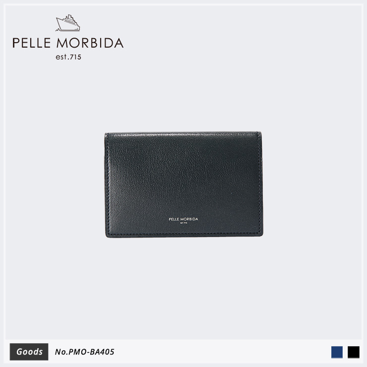 【PELLE MORBIDA ペッレモルビダ】Barca ゴートレザー Goods カードケース 名刺入れPMO-BA405 [送料無料]