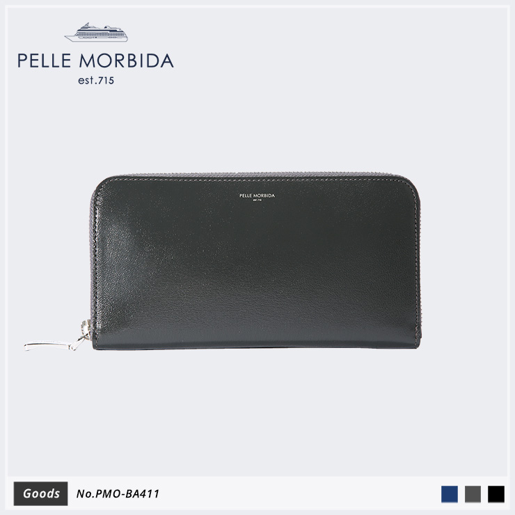 【PELLE MORBIDA ペッレモルビダ】Barca ゴートレザー Goods ウォレット 長財布 PMO-BA411 [送料無料]