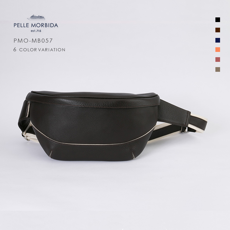 【期間限定!ケアセットプレゼント☆】【PELLE MORBIDA|ペッレモルビダ】Maiden Voyage シュリンクレザー 牛革 Body Bag ボディバッグ PMO-MB057 [送料無料]