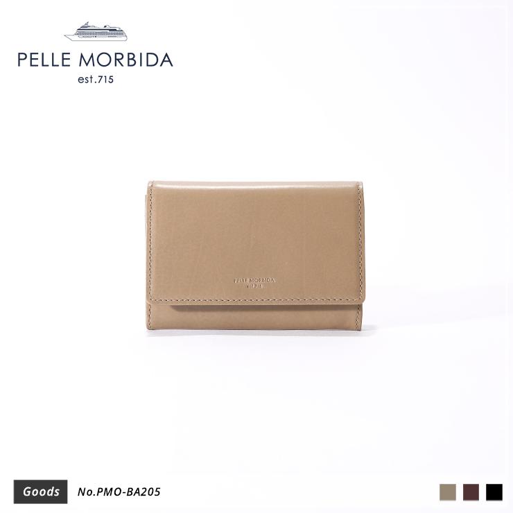 【PELLE MORBIDA|ペッレモルビダ】Barca カーフレザー 牛革 Goods カードケース 名刺入れ PMO-BA205 [送料無料]