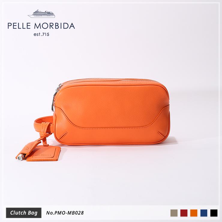 【PELLE MORBIDA|ペッレモルビダ】Maiden Voyage シュリンクレザー 牛革 Clutch クラッチバッグ PMO-MB028 [送料無料]