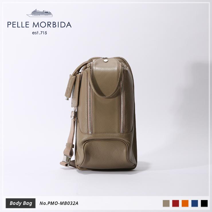 【期間限定!ケアセットプレゼント☆】【PELLE MORBIDA|ペッレモルビダ】Maiden Voyage シュリンクレザー 牛革 Body Bag ボディバッグ 斜め掛け PMO-MB032A [送料無料]