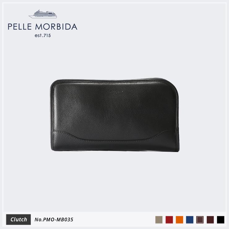 【PELLE MORBIDA ペッレモルビダ】Maiden Voyage シュリンクレザー 牛革 Clutch クラッチバッグ PMO-MB035 [送料無料]