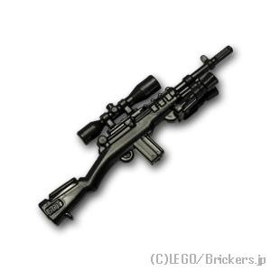 レゴ互換の精密な武器でミニフィグの武装を強化だ! レゴ カスタム パーツ ミニフィグ スナイパー ライフル M14 [Black/ブラック] | レゴ互換品 ミニフィギュア 人形 ミリタリー 武器 銃
