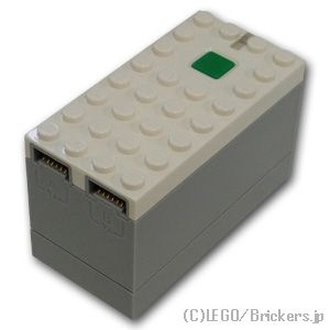レゴ パーツ Powe赤 Up 9V バッテリーボックス 青toothハブ グレーボトム [ 白い / ホワイト ] | lego 部品