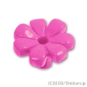 Lego 50 x Dark Pink Flower With 7 Petals 32606 New City Friends Garden Floral