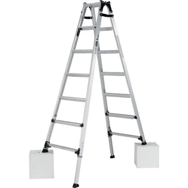 【送料無料】【直送】ALINCO アルインコ 伸縮脚付はしご兼用脚立210cm PRW-210FX