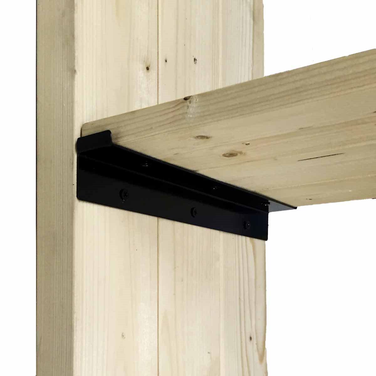 キズをつけなくない壁に 格安 価格でご提供いたします 新作続 ツーバイ材 工具不要 棚 ラック 木製 ウォリスト WAKI WAT-007 Walist 和気産業 黒 棚受金具3枚用 2個入