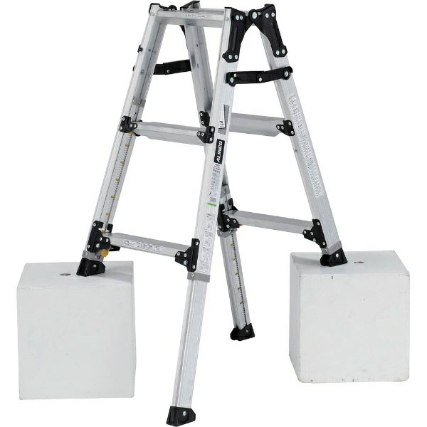 【送料無料】【直送】ALINCO アルインコ 伸縮脚付はしご兼用脚立90cm PRW-90FX