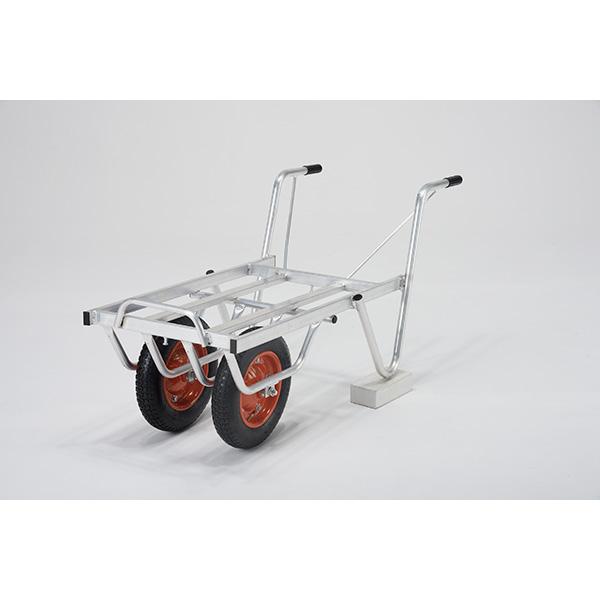 【送料無料】【直送】ALINCO アルインコ アルミ製台車 コンテナカー 2コンテナ用二輪タイプ SKX-02W