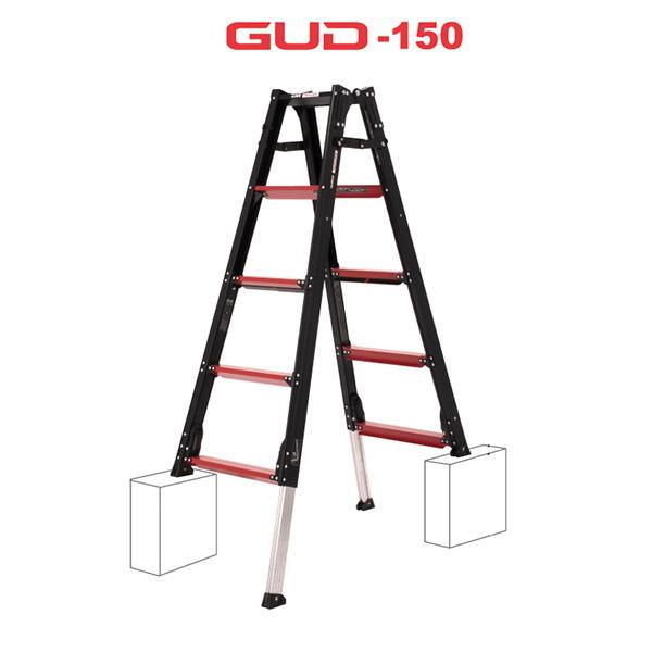 【送料無料】【直送】アルインコ GAUDI ガウディ 上部操作型 伸縮脚付きはしご兼用脚立 150cm GUD-150