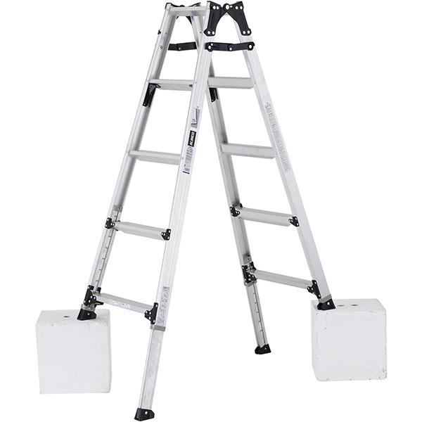 【送料無料】【直送】ALINCO アルインコ 伸縮脚付はしご兼用脚立150cm PRW-150FX