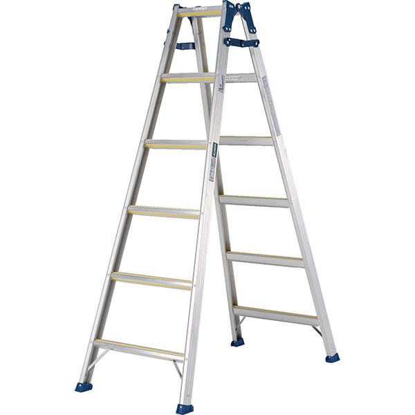 【送料無料】【直送】ALINCO アルインコ はしご兼用脚立180cm ステップ幅広全段滑り止め付 MXJ-180F