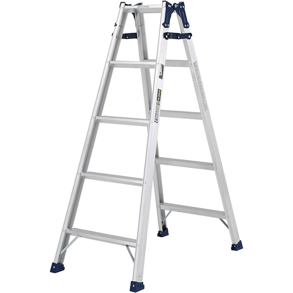【送料無料】【直送】ALINCO アルインコ はしご兼用脚立150cm ステップ幅広 MXA-150W