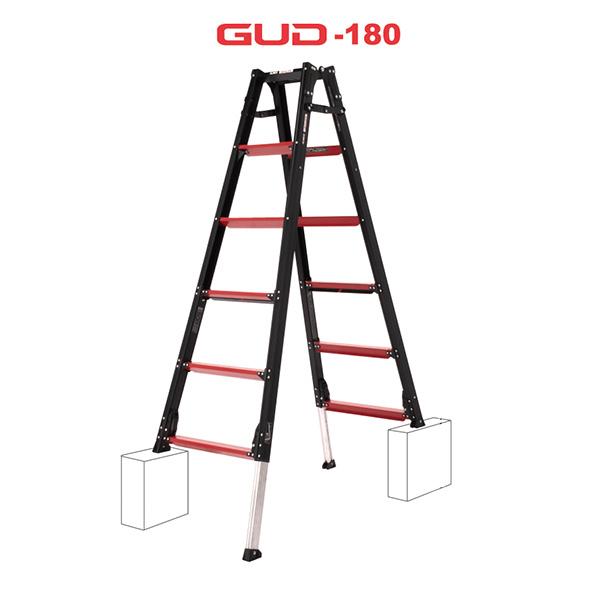 【送料無料】【直送】アルインコ GAUDI ガウディ 上部操作型 伸縮脚付きはしご兼用脚立 180cm GUD-180