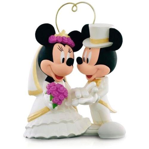 【送料無料】ウエディングのケーキトッパーとしてディズニーミッキー&ミニー ウェディング結婚式