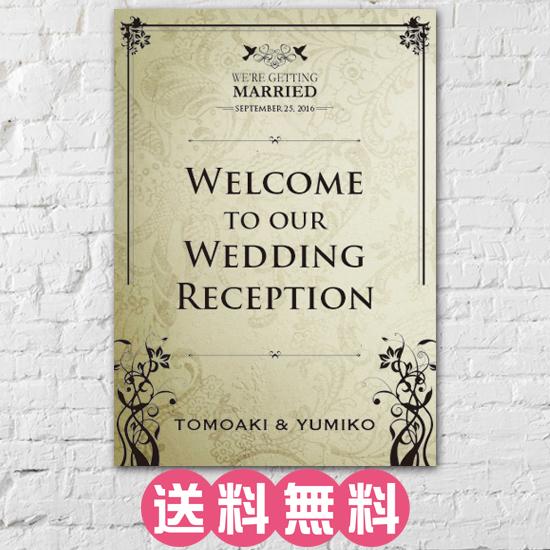 ウェルカムボード ポスター結婚式 二次会 インスタ