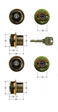 MIWA U9シリンダー TE0タイプ 2個同一 ブロンズ色 【FSMCY-426】【取替用シリンダー】【美和】【ミワ】