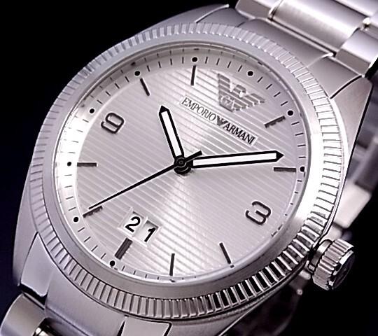 EMPORIO ARMANI【エンポリオ アルマーニ】メンズ腕時計 シルバー文字盤 メタルベルト AR5894