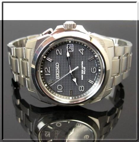 SEIKO/BRIGHTZ 솔 라 전파 시계 남성용 블랙 문자판 메탈 벨트 SAGZ017 (국내 정품)