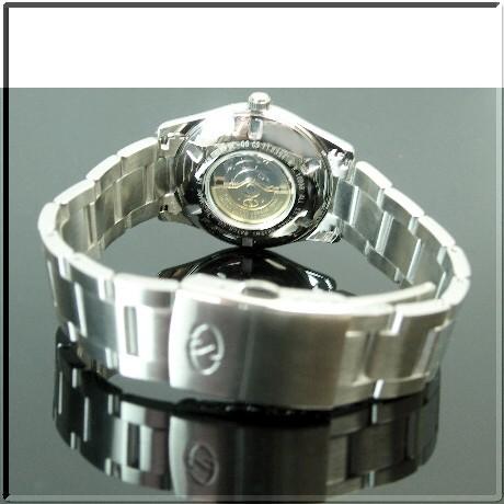 ORIENT/Orient Star 남성용 시계 자동 권 금속성 연어 문자판 메탈 벨트 (국내 정품) WZ0331PF
