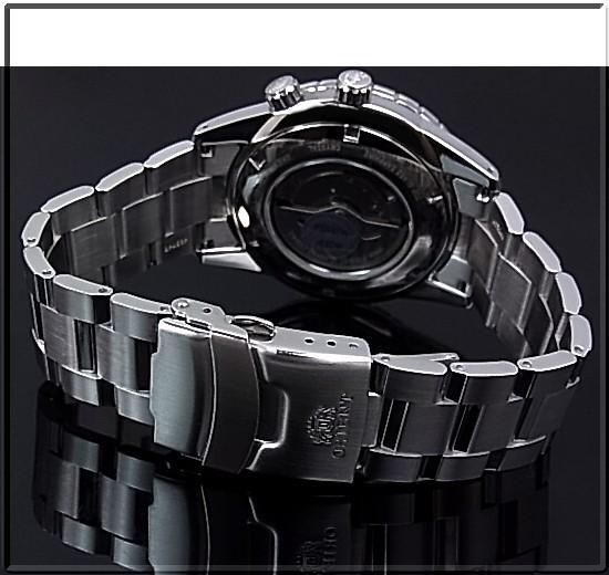ORIENTKING MASTER 해외 모델 맨즈 손목시계 자동권파워 리저브 네이비 문자판 메탈 벨트 FDH01002D0