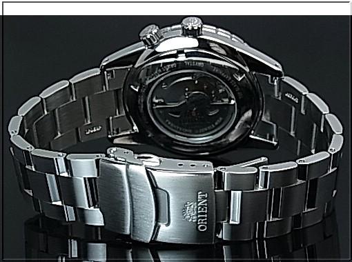 ORIENT 남자 시계 듀얼 타임 자동 와인딩 파워 리 저 브 실버 문자판 메탈 벨트 MADE IN JAPAN 해외 모델 SDH01002W0