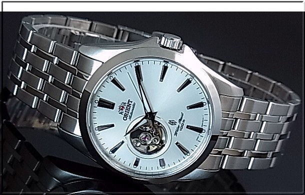 ORIENT men's watch automatic winding skeleton silver letter Board represent MADE IN JAPAN overseas model SDB09003W0