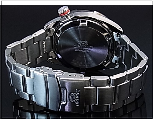 ORIENT/M-FORCEDIVER'S/ diver's watch men watch self-winding watch power reservation black clockface metal belt MADE IN JAPAN foreign countries model SEL0A001B0