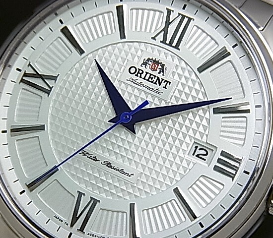 ORIENT men's watch automatic winding silver character Panel represent MADE IN JAPAN overseas model SAC04003W0
