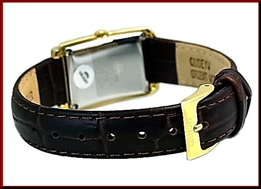 ORIENT standard quartz ladies Watch Gold Silver characters Edition brown leather belts Made in JAPAN SUBUG004W0