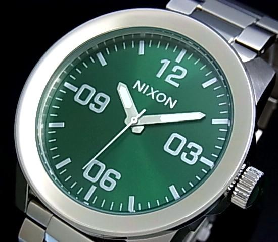 NIXON【ニクソン】CORPORAL SS/コーポラル グリーン サンレイ メンズ腕時計 グリーン文字盤 メタルベルト【送料無料】A346-1696(国内正規品)
