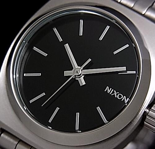NIXONTIME 出納員 / 時間出納員 p PA 手錶手錶黑色黑色字母版中的金屬 g.A045-000/A399-000 (日本普通版)