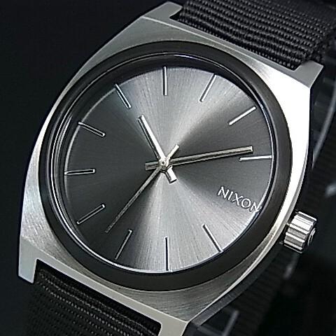 NIXON【ニクソン】TIME TELLER/タイムテラー ボーイズ 腕時計 ガンメタルサンレー/ブラック ナイロンベルト【送料無料】A045-2454(国内正規品)