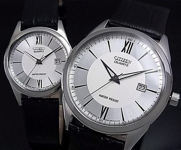 CITIZEN/Standard mens Watch Silver Dial black leather belt BK 2437 - 04a (overseas model)