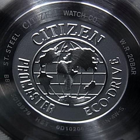 CITIZEN/PROMASTER Nighthawk 남자 태양 열 시계 브라운 문자판 브라운 가죽 벨트 BJ7017-17W (해외 모델)