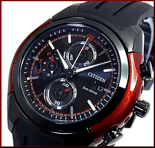 bright rakuten global market citizen x2f chronograph men solar citizen chronograph men solar watch black red case black clockface black rubber belt ca287