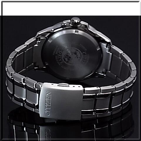 CITIZEN/에코 드라이브 티타늄 모델 남자 태양 열 시계 블랙 문자판 메탈 벨트 BM6921-58E MADE IN JAPAN (해외 모델)